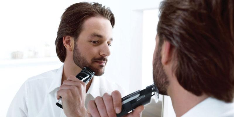 barba piu ordinata con il regolabarba